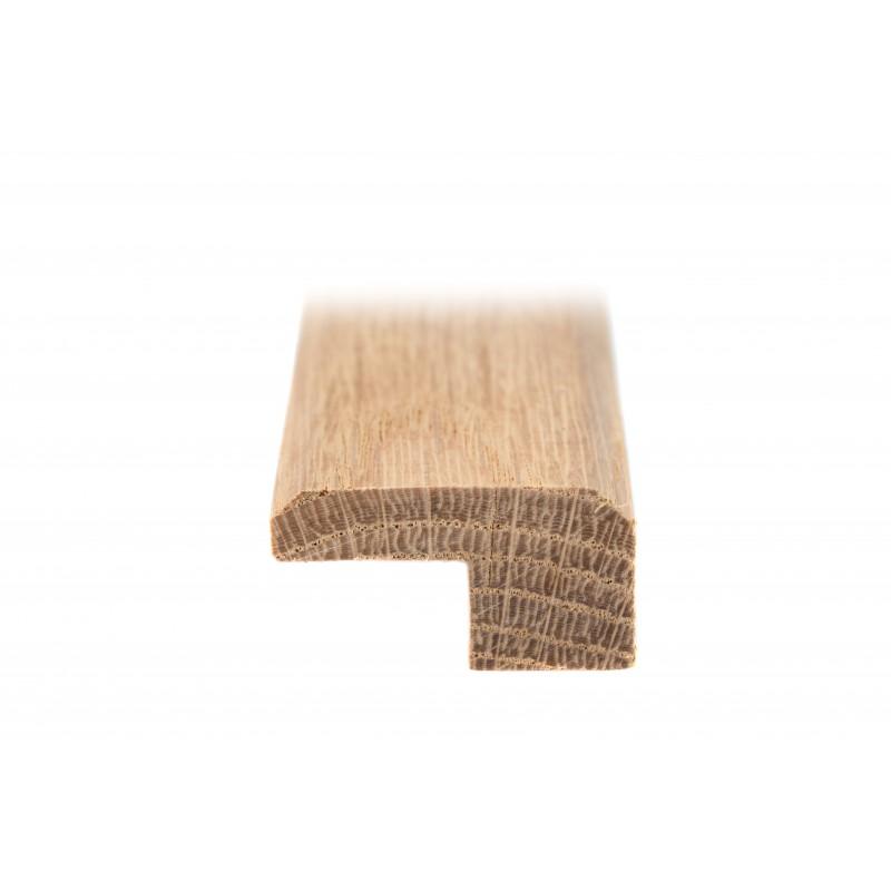 Parclose bois chêne 15mm, couvre joints